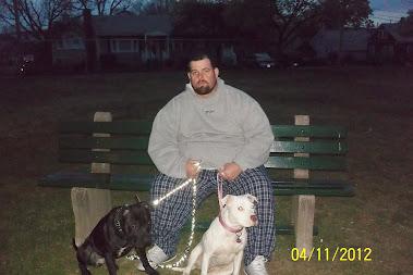 My Mister & our 2 pitbulls Ruger & Sherah