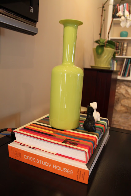 Holmegaard bottle shaped vase