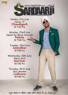 Sardaarji Diljit Dosanjh Punjab Promotinal Tour Dates