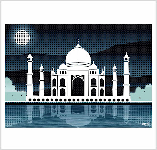 taj mahal graphics, taj mahal digital artwork, spot the taj, laura hol art. taj mahal limited edition prints,