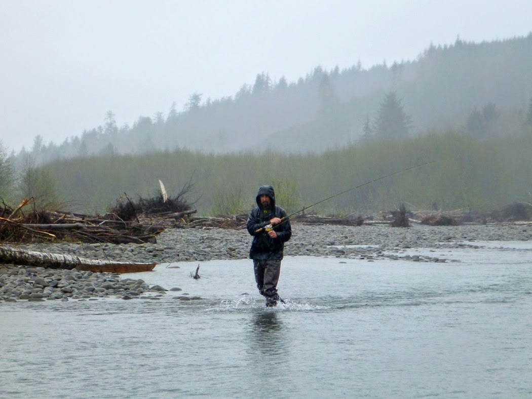 Jim Kerr fishes a run on the Lower Hoh river.