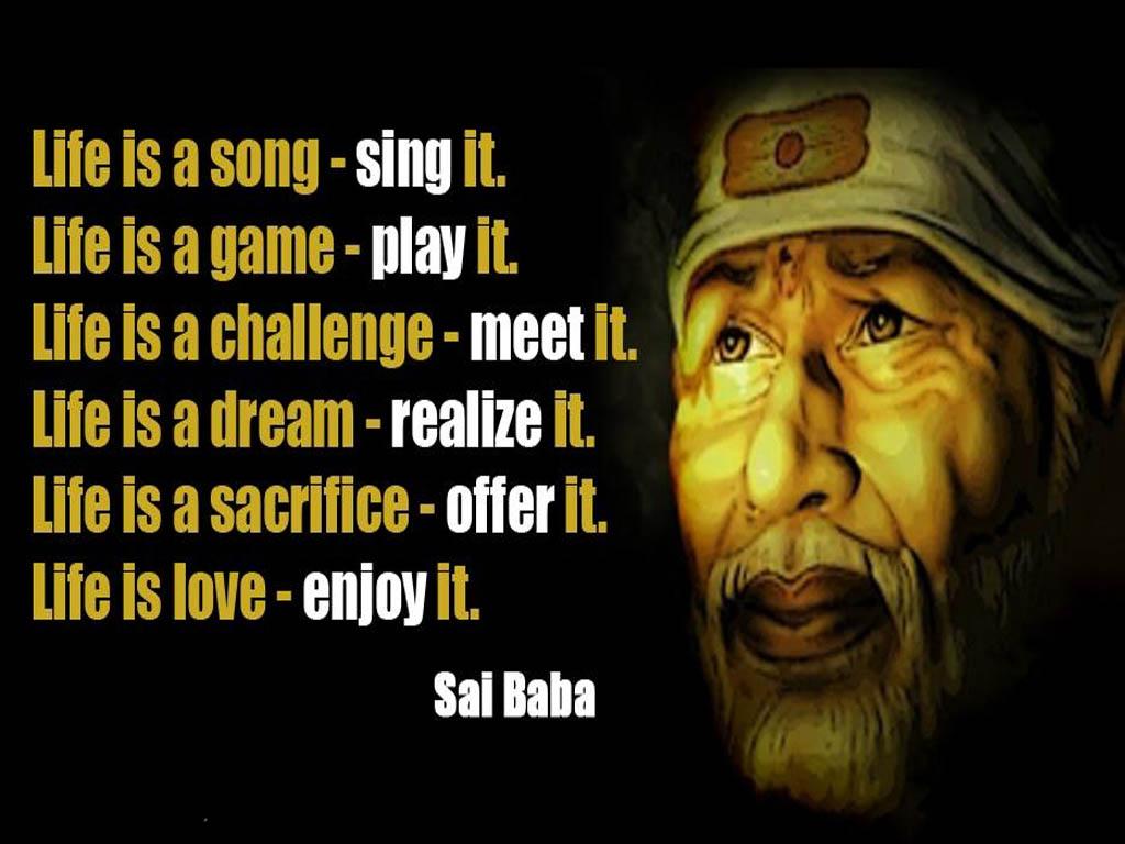 Sai Baba Inspiring Life Quotes HD Wallpapers Download