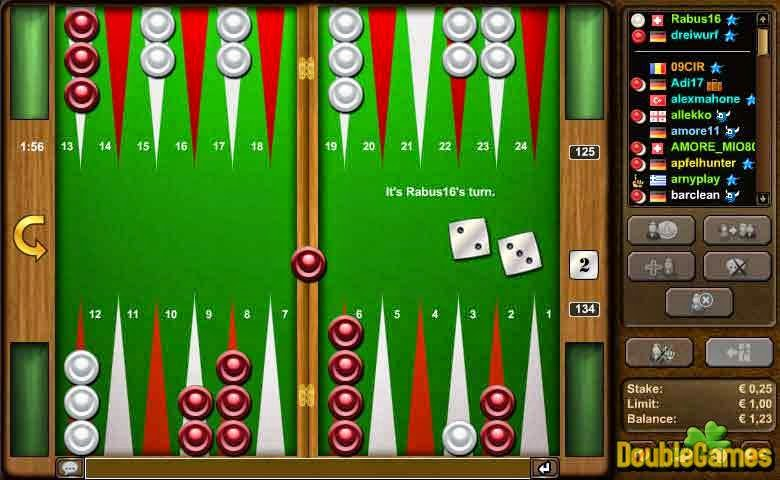 free online backgammon