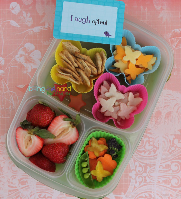 "DIY Butterfly ""Lunchables"" Cracker Stacker School Lunch"
