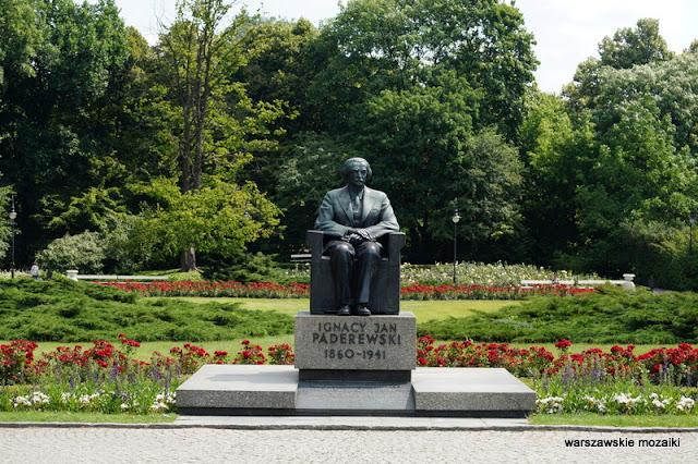 Paderewski pomnik teren zielony Warszawa Ujazdów Warsaw Śródmieście parki warszawskie