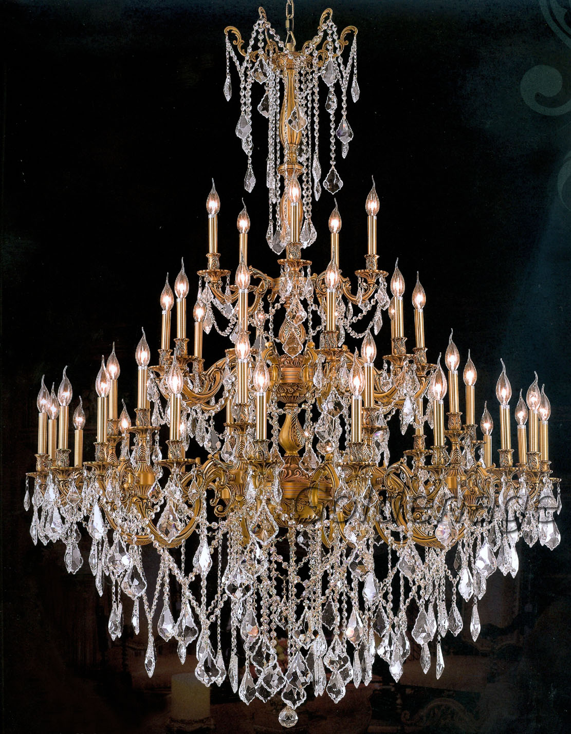 from GoldenAgeUSA.com offers a large collection of brass chandeliers ...