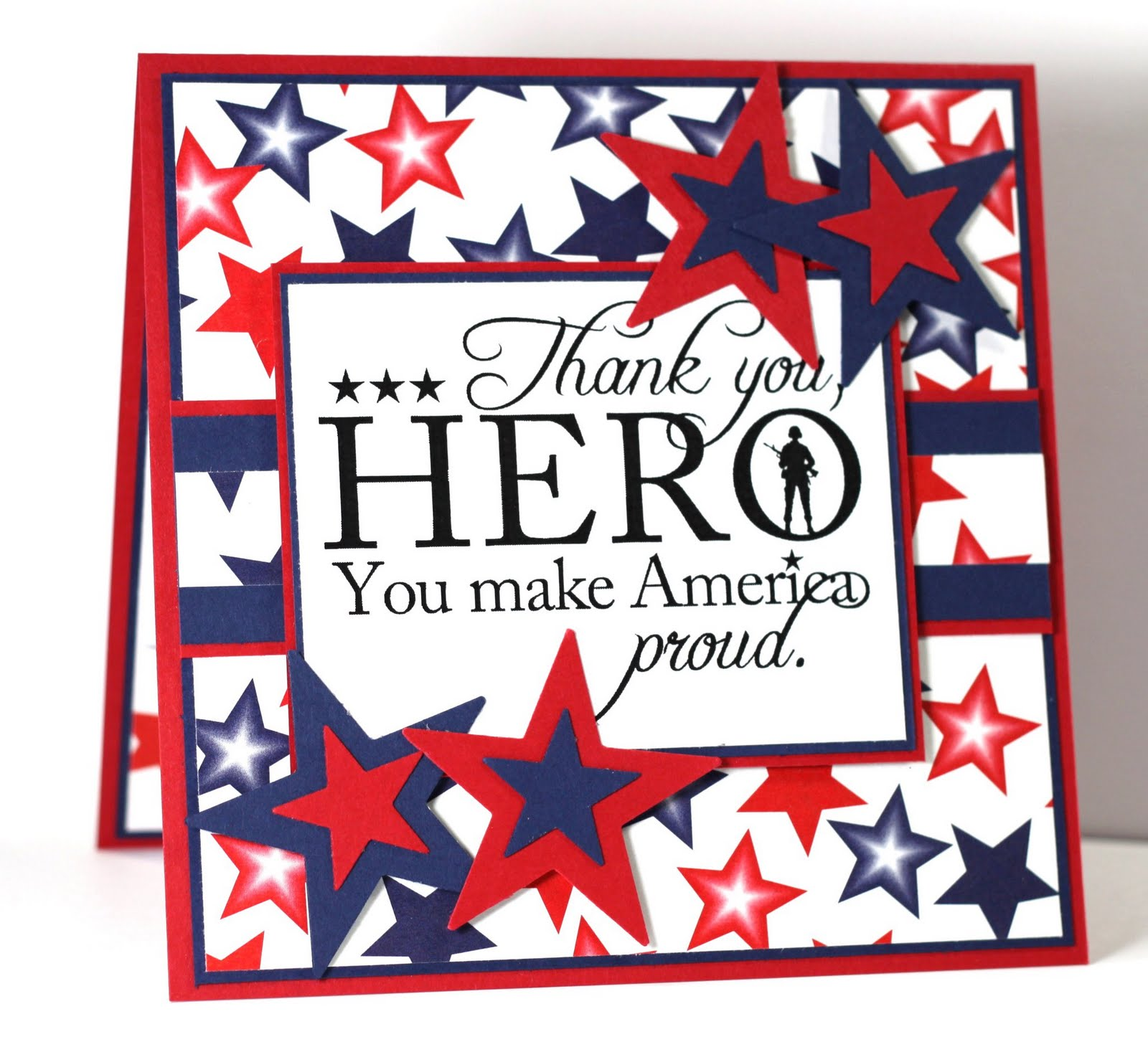 This is a picture of Revered Military Thank You Cards Free Printable