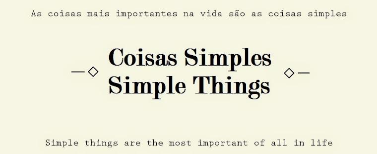 Coisas simples - Simple things