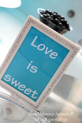tablczki weelne kolor Tiffany Blue (Love is sweet)