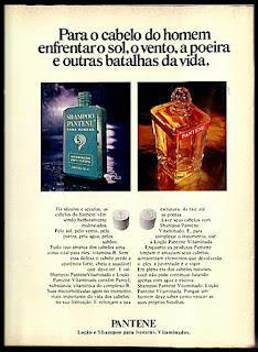 Pantene, moda anos 70.  Os anos 70. propaganda anos 70; história da década de 70; reclames anos 70; brazil in the 70s; Oswaldo Hernandez