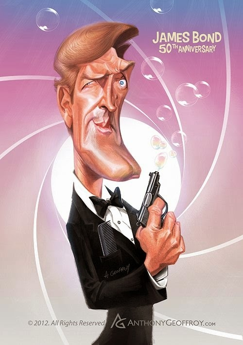 03-Roger-Moore-James-Bond-007-Anthony-Geoffroy-Caricature-Illustrations-Comics-www-designstack-co