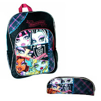 Sac à dos et trousse Monster High