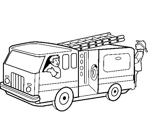 desenhos de caminh u00e3o e carreta para colorir