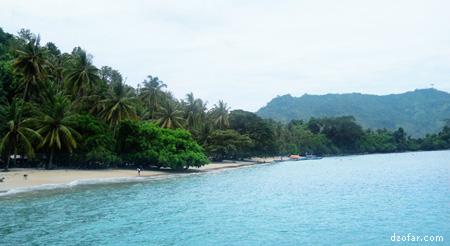 Pantai Karanggongso Trenggalek pas sepi