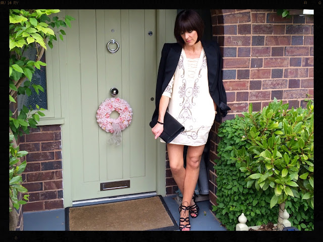 la Redoute Long Sleeved Dress With Embroidery and Studs My Midlife Fashion, Tuxedo Jacket, Zara