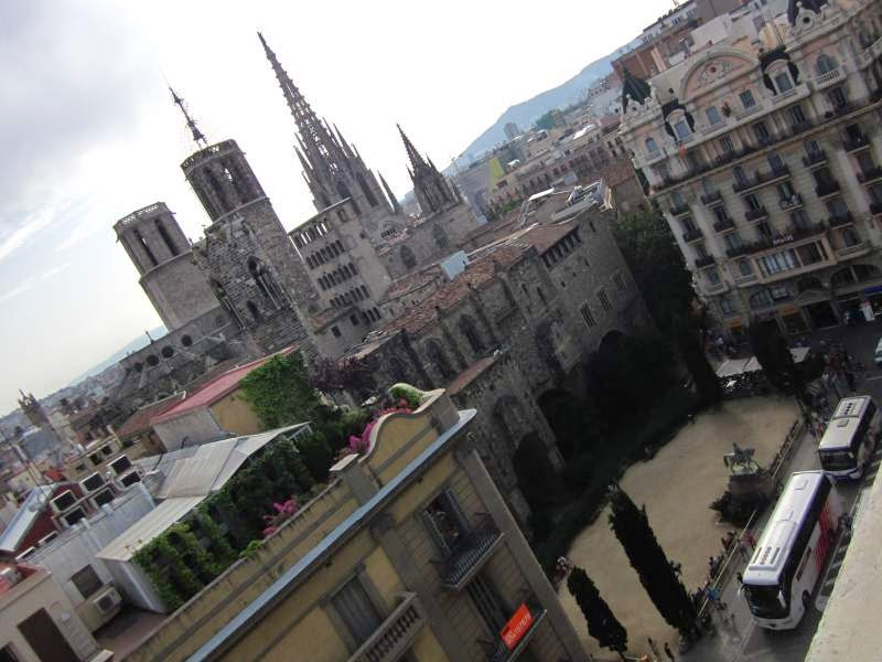 Gothic Quarter from H10 Montcada Hotel in Barcelona