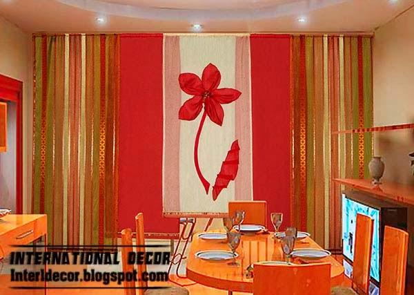 Modern Japanese Curtain Design For Dining Room Interior