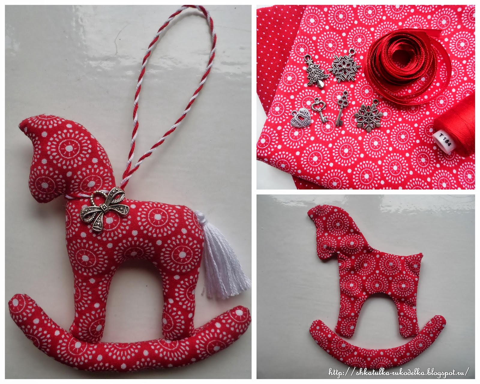Новогодние игрушка лошадка своими руками