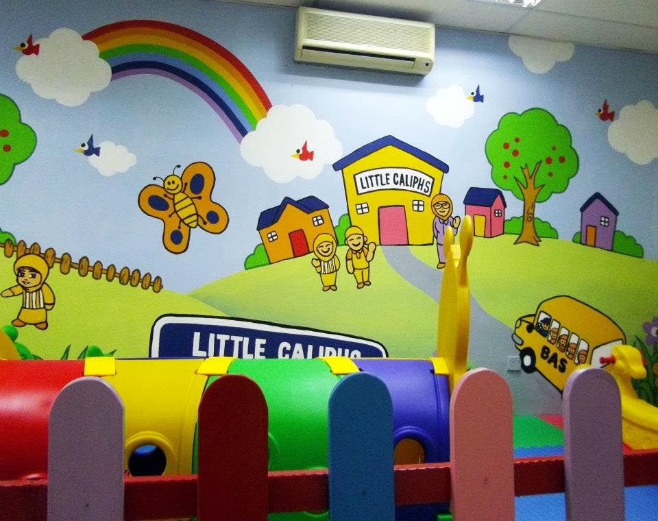 Warna arts little caliphs sri damansara mural for Contoh lukisan mural tadika
