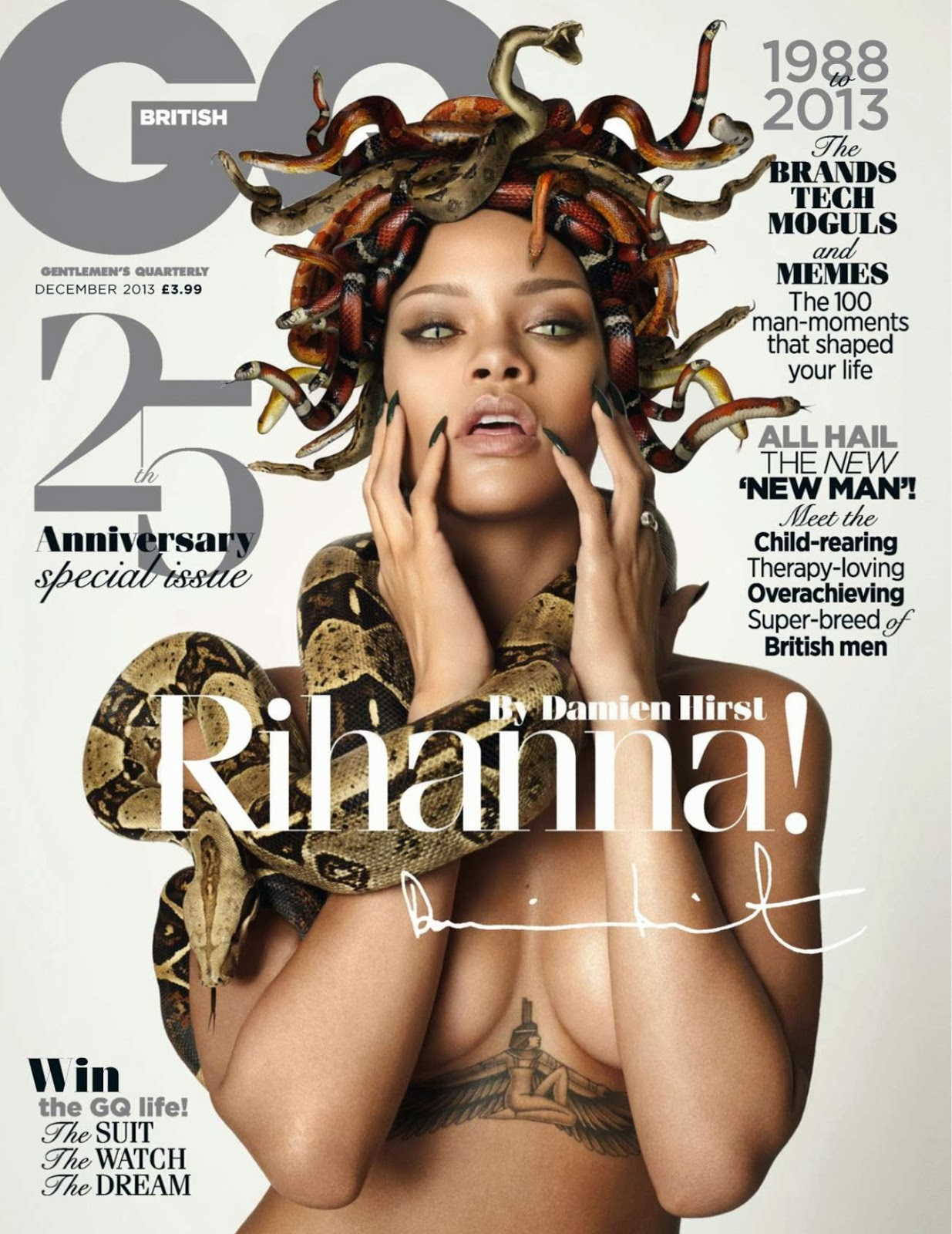 Rihanna Gq December Uk