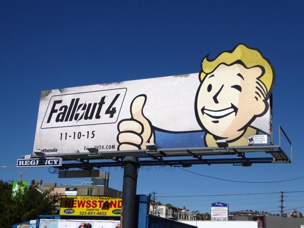 Fallout 4 video game billboard