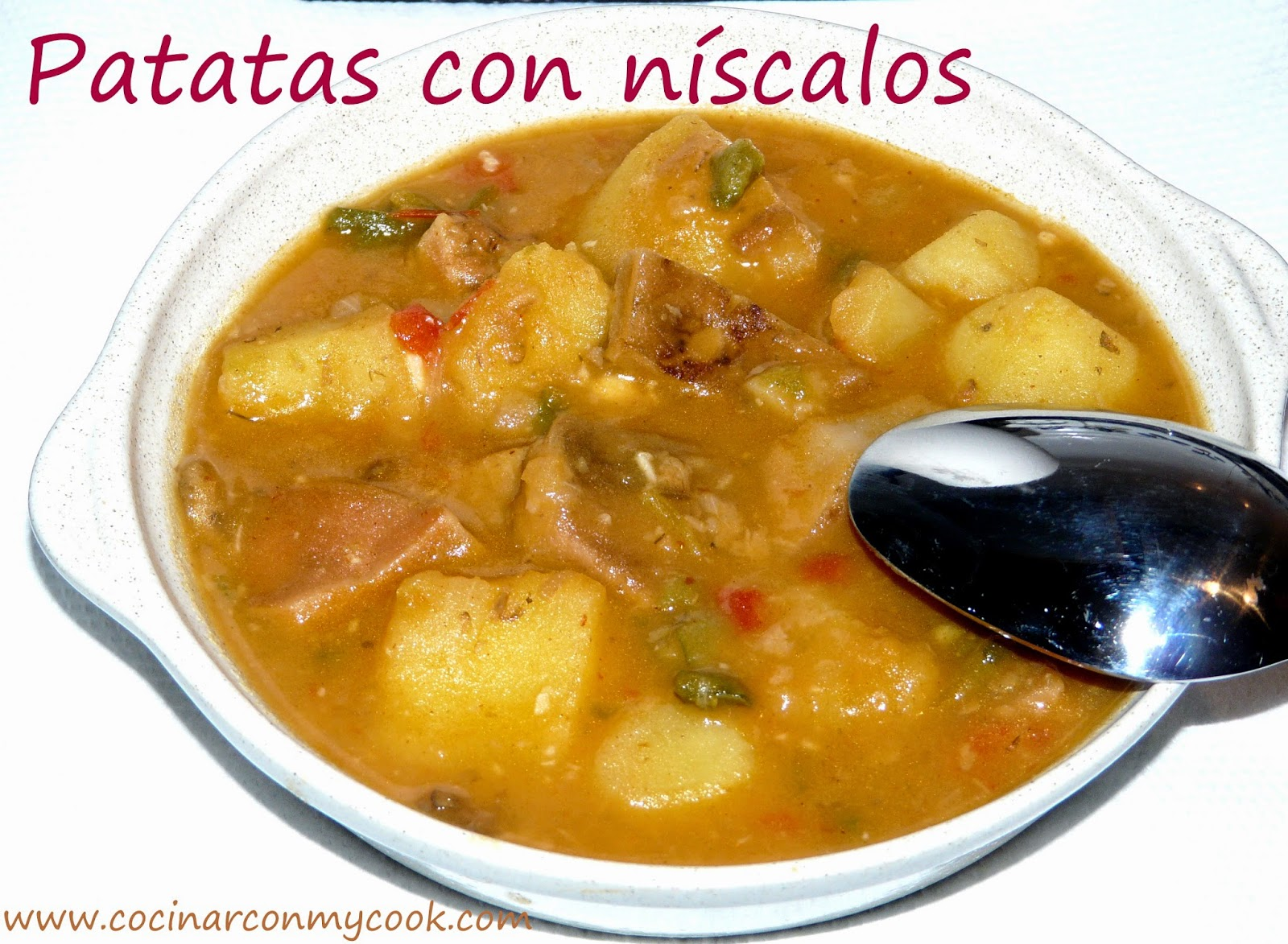Cocinar con mycook patatas con n scalos for Cocinar repollo con patatas