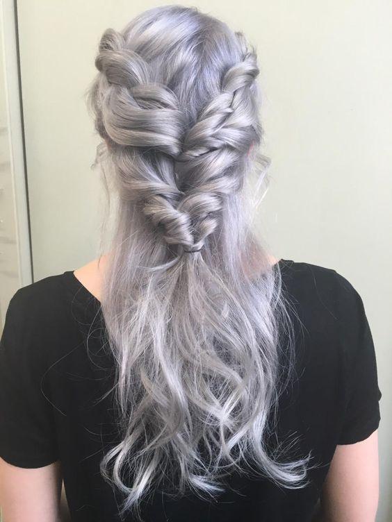 Braids In Platinum Shades The Haircut Web