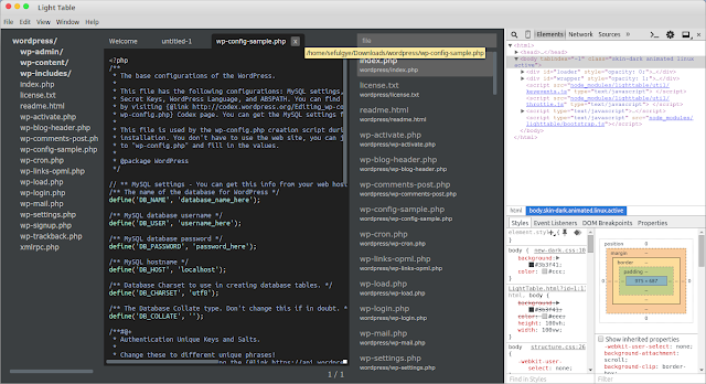 Light Table Code Editor For Linux With Developer Tool