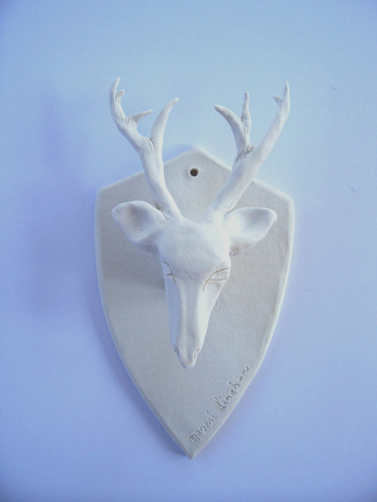 brick house clayworks porcelain deer head something for the house