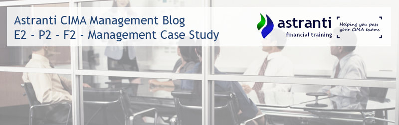 CIMA Management level - E2 - P2 - F2 - Case Study