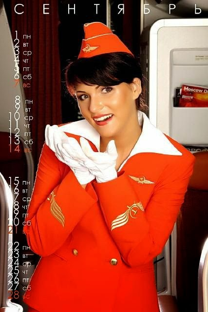 nude calendar Stewardesses with aeroflot