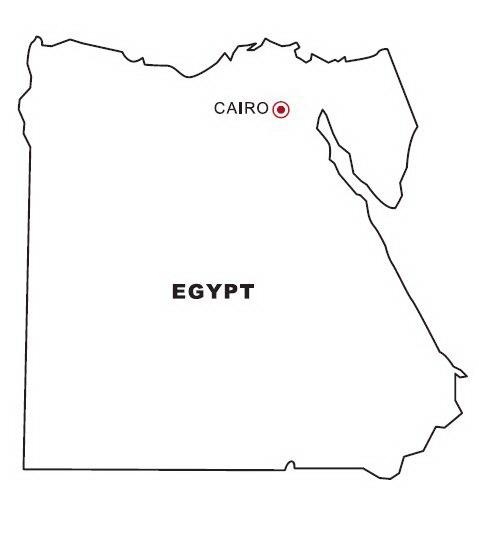 LAMINAS PARA COLOREAR - COLORING PAGES: Mapa y Bandera de Egipto ...