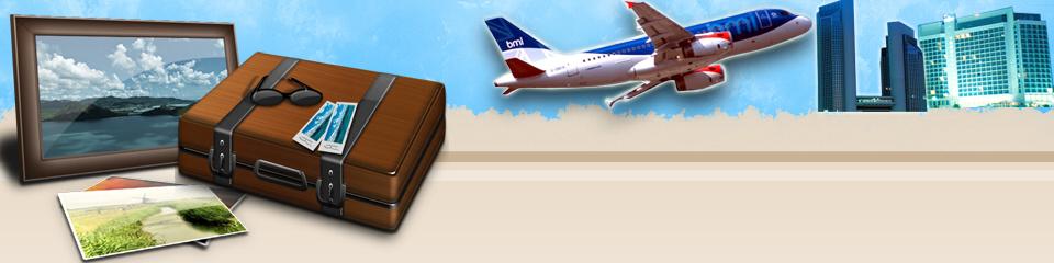 cheap business class flight banner