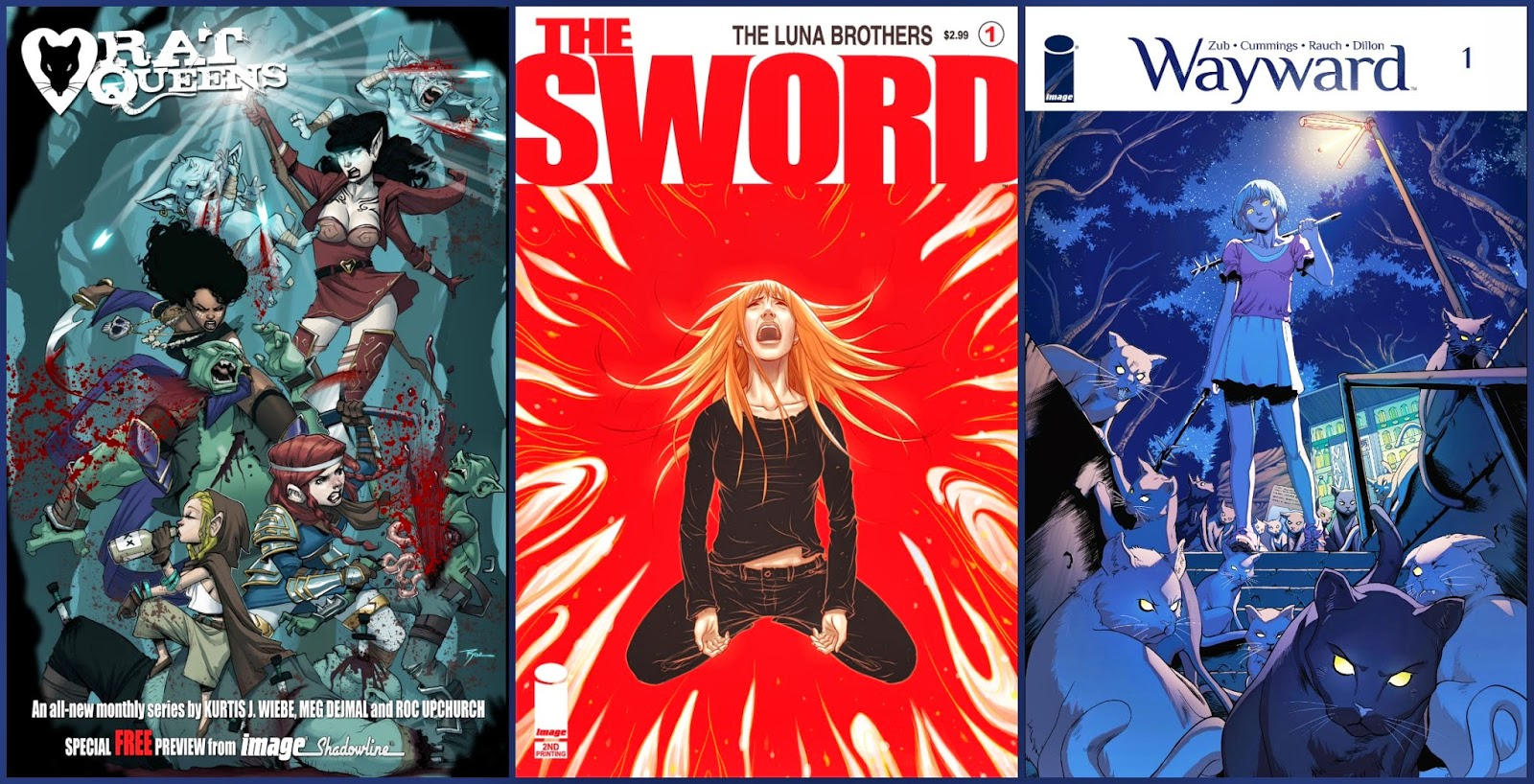 Rat Queens, The Sword, Wayward, comics
