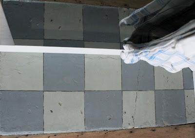 Schackrutigt golv