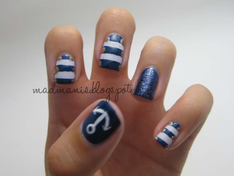 Mad Manis Nautical Nails