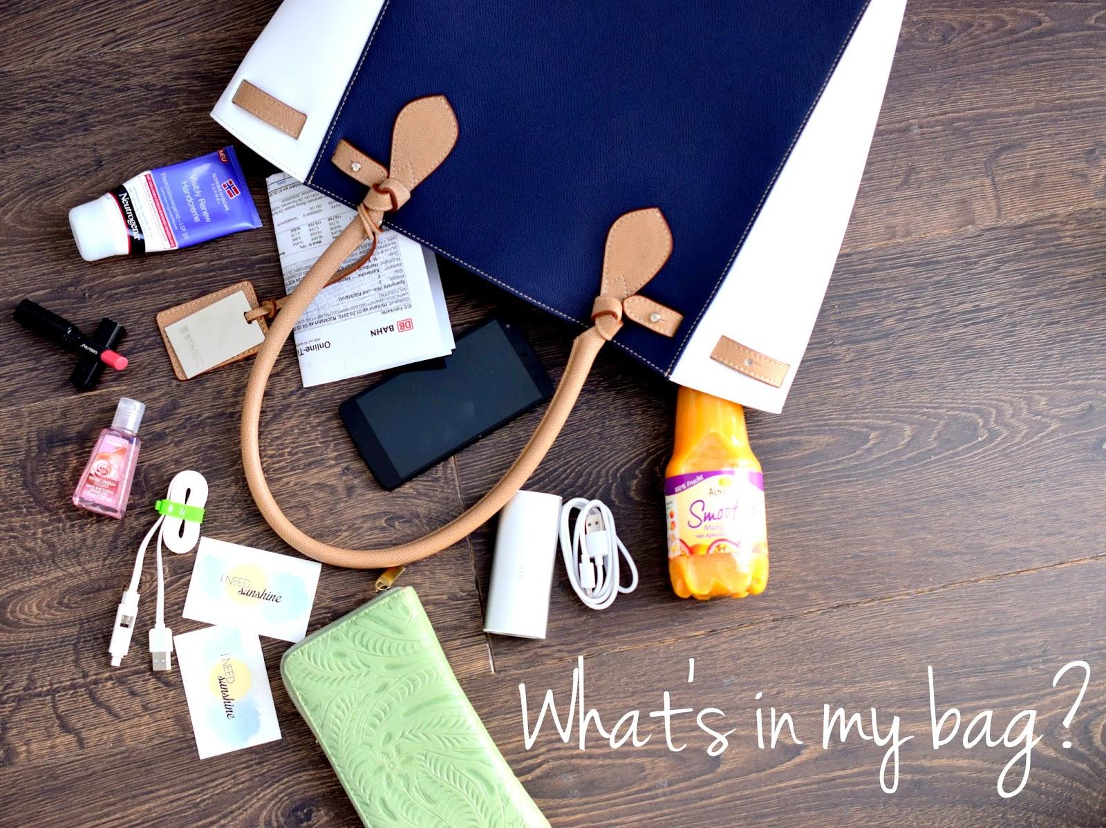 What's in my bag? Was ich für ein Blogger Event einpacke