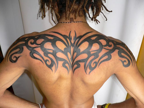 Ladies With Tattoos: Back tribal tattoos