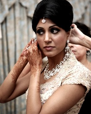 latest bridal hairstyle indian  bridal wears