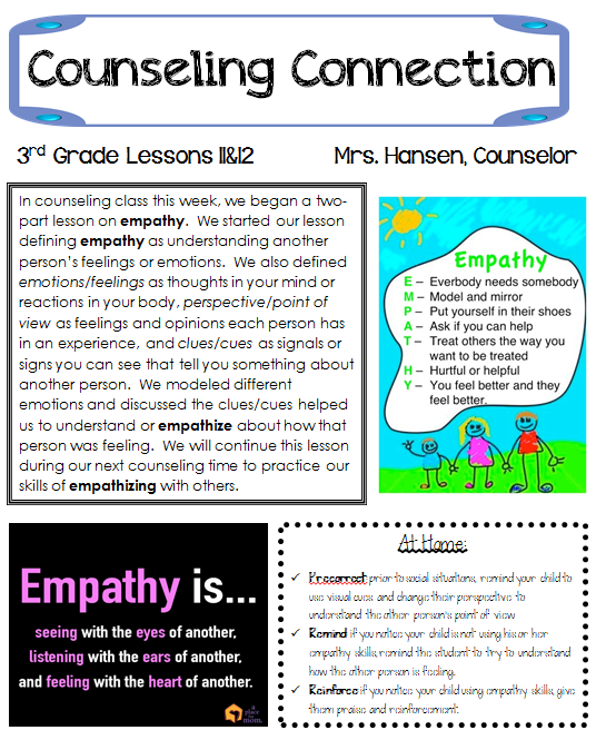 Hanselor the counselor empathy part 1 for Counseling brochure templates free