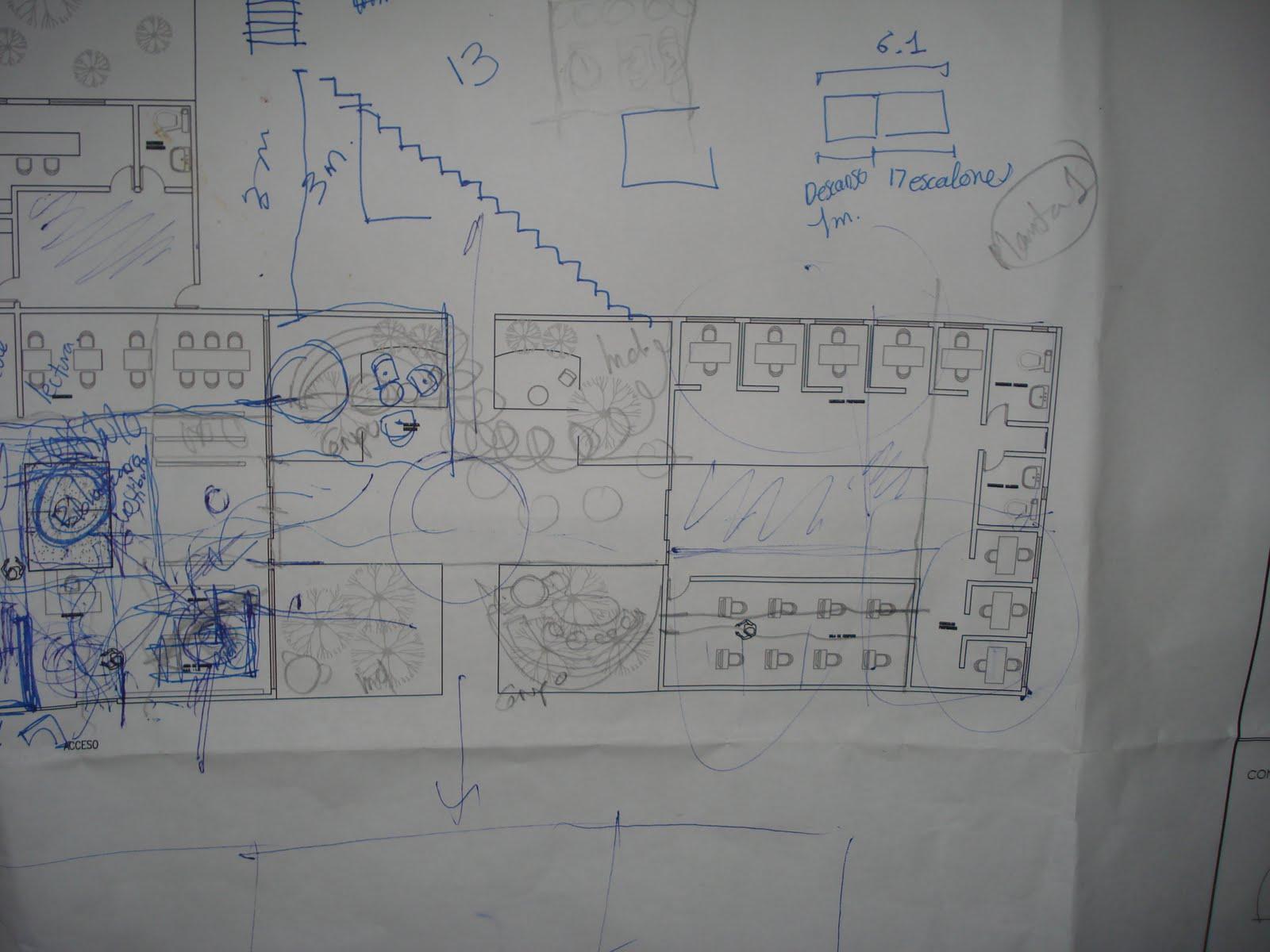 Proceso de dise o arquitectonico escuela superior de for Planta arquitectonica biblioteca