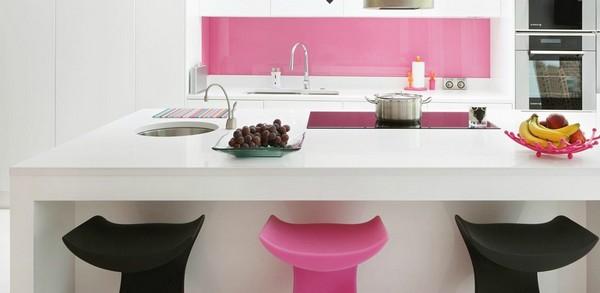 Decoraci n de interiores cocina contempor nea de color for Cocinas de color rosa
