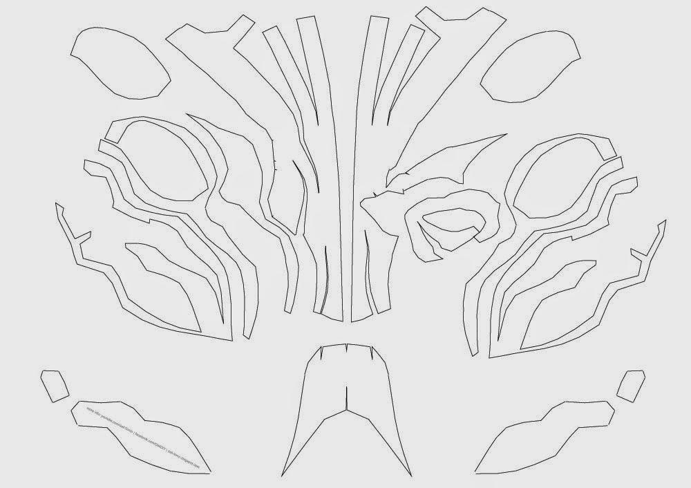 dali lomo deathstroke costume mask diy cardboard free pdf template
