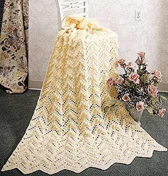 Pineapple Knit Afghan | Welcome to the Craft Yarn Council