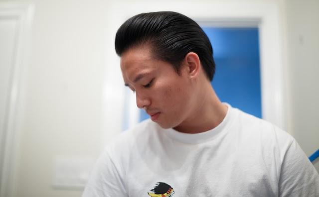 Aplikasi Pomade Suavecito Premium Blends Pada Rambut