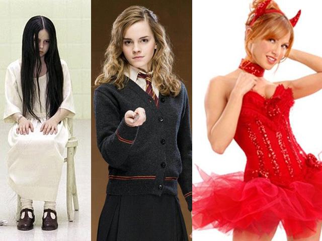 looks para Halloween: Samara o chamado, Hermione e Diabinha  (foto: pinterest/reprodução )