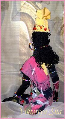 текстильная кукла - африканка Болейд