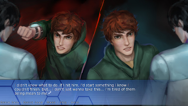 Screenshot from Orion: A Sci-Fi Visual Novel