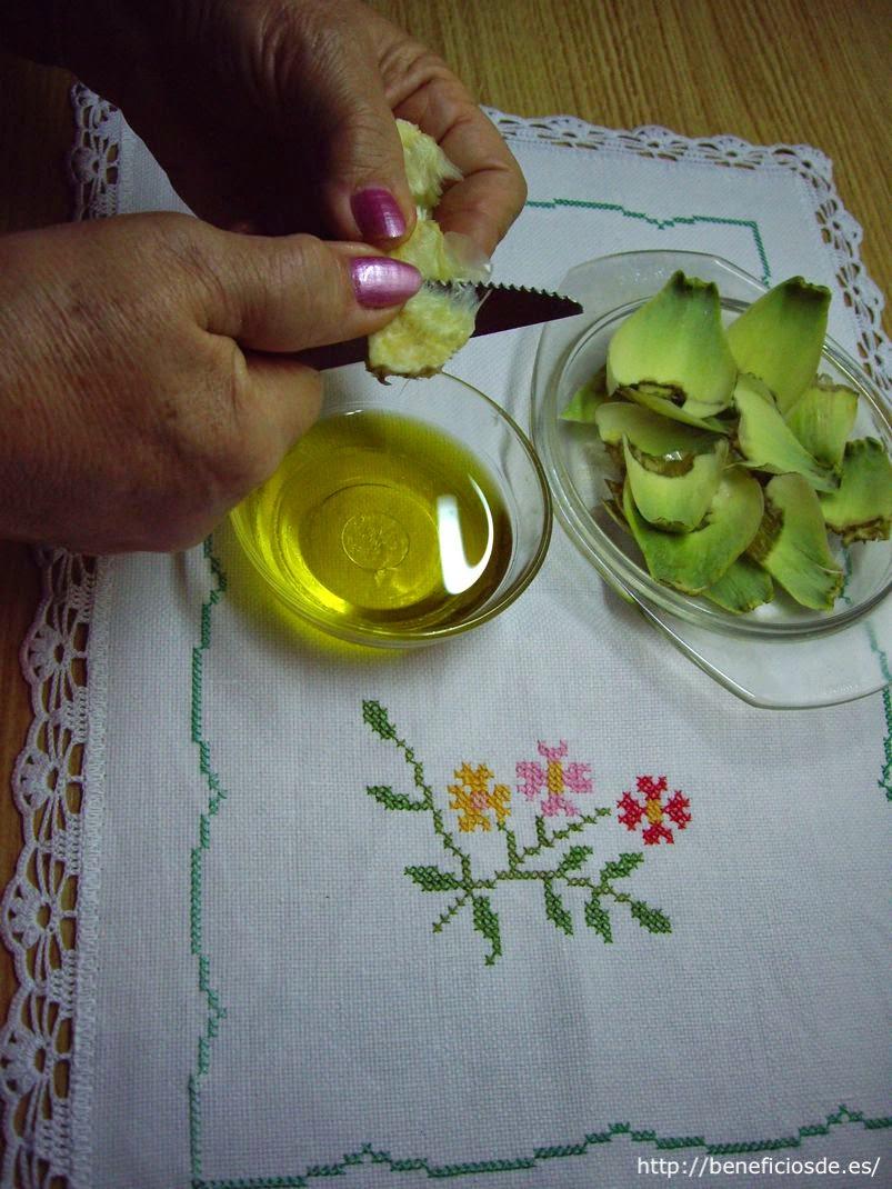 Cortando el cogollo de la alcachofa