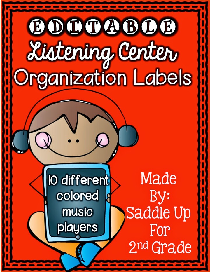 EDITABLE Listening Center Organization Labels by Saddle Up For 2nd Grade